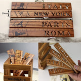 Creative Vintage hollow wooden Eiffel Tower Architecture Ruler Gift Novelty Item School Material Stationery