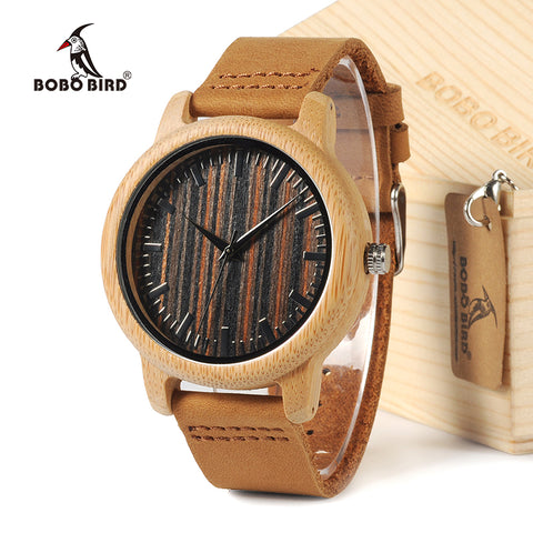 2018 Men's White Maple Wood Watches Genuine Leather Band Wood Watches Best Gifts Item