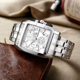 Luxury Men Watch Full Steel Band Date Quartz Watches Business Big Dial Watch
