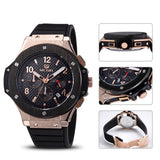 Awesome Quartz Men Watch Big Dials Silicone Sports Military Watches