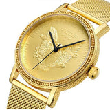 MAGA Pride Men Quartz Watches Mens Full Steel Clock Gold Watch Waterproof