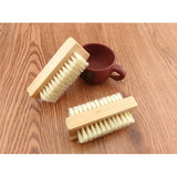 Wooden Handle Double Sided Natural Bristle Nail Brush