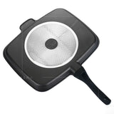 Transhome 5 in 1 Magic Frying Pan Master Non-Stick Divided Grill Pan Chef's Fry Oven Meal Skillet baking Cookware