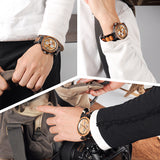 BOBO BIRD Multi-function Wooden Band Watches Luxury Brand Gifts Item Men Wrist Watch C-P17