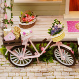 Bike Angel Diy Production Wood House Educational Toys Refinement House And Home Furnishings Romance Creative Gift