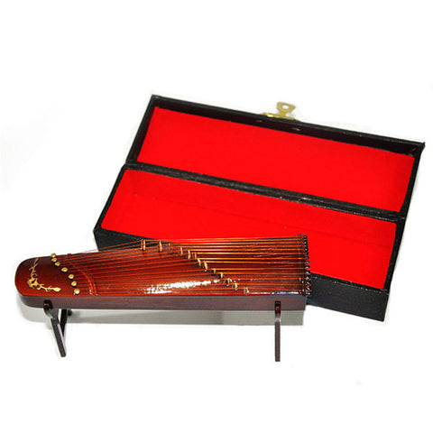 New Mini Musical Instrument Model Guzheng House And Home Refinement Orn Yangqin Creative Artware Gift Collectible Model Toy L607