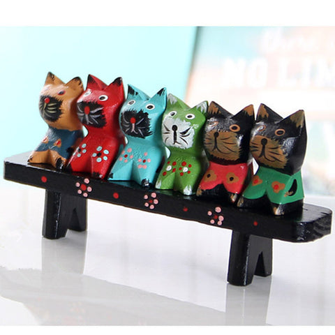 Personality Wood Animal Furnishings House And Home Decoration Refinement Chair And Cats Creative Artware Birthday Gift L760