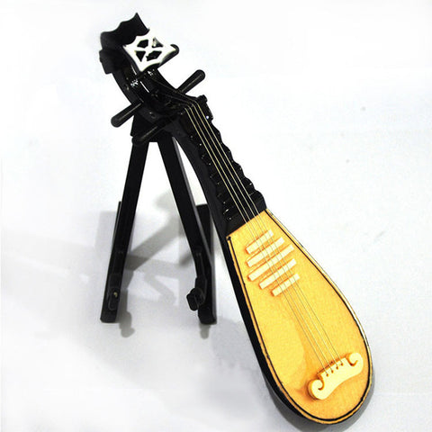 Mini Musical Instrument Lute Model Erhu Refinement House And Home Furnishings Creative Birthday Gift Collectible Model Toy L591