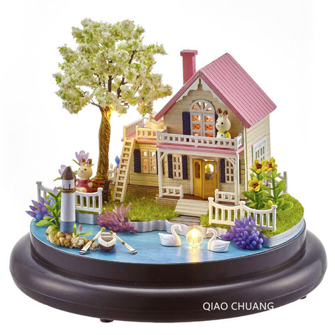 Romance Music Box Diy Production Wood House Educational Toys Refinement House And Home Furnishings Creative Birthday Gift L466