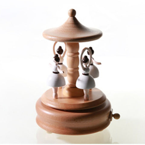 Refinement Wood Rotation TuTuMuch Dance Personality Music Box Creative Artware Romance Lover Gift  High Quality Collection L832
