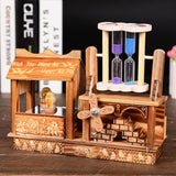 Refinement Rotation Music Box Ratent Dance Bear Quicksand House And Home Furnishings Creative Artware Windmill Hourglass L841