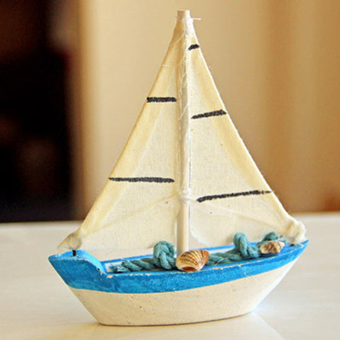 Mediterranean Wood ARTS WORKMANSHIP Wishing You Every Success Sailing Model House And Home Decoration Creative Artware Gift L740
