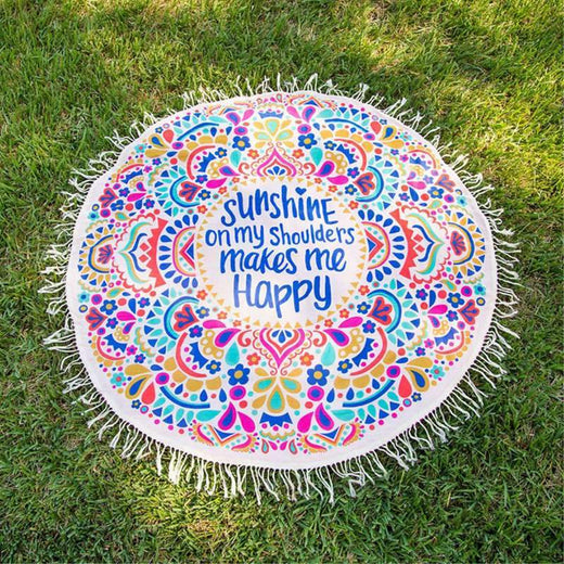 "Toile Mandala ""Sunshine on my shoulders makes me Happy"""