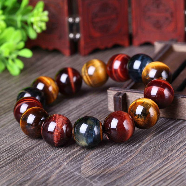 Grand Bracelet Oeil de Tigre 20mm
