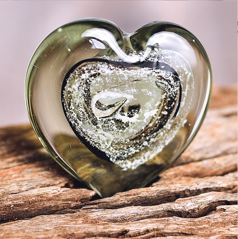 Heart Paperweight Glash Designs