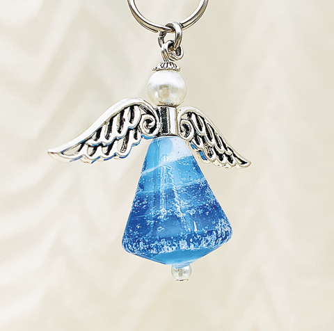 Memorial Angel Keyring