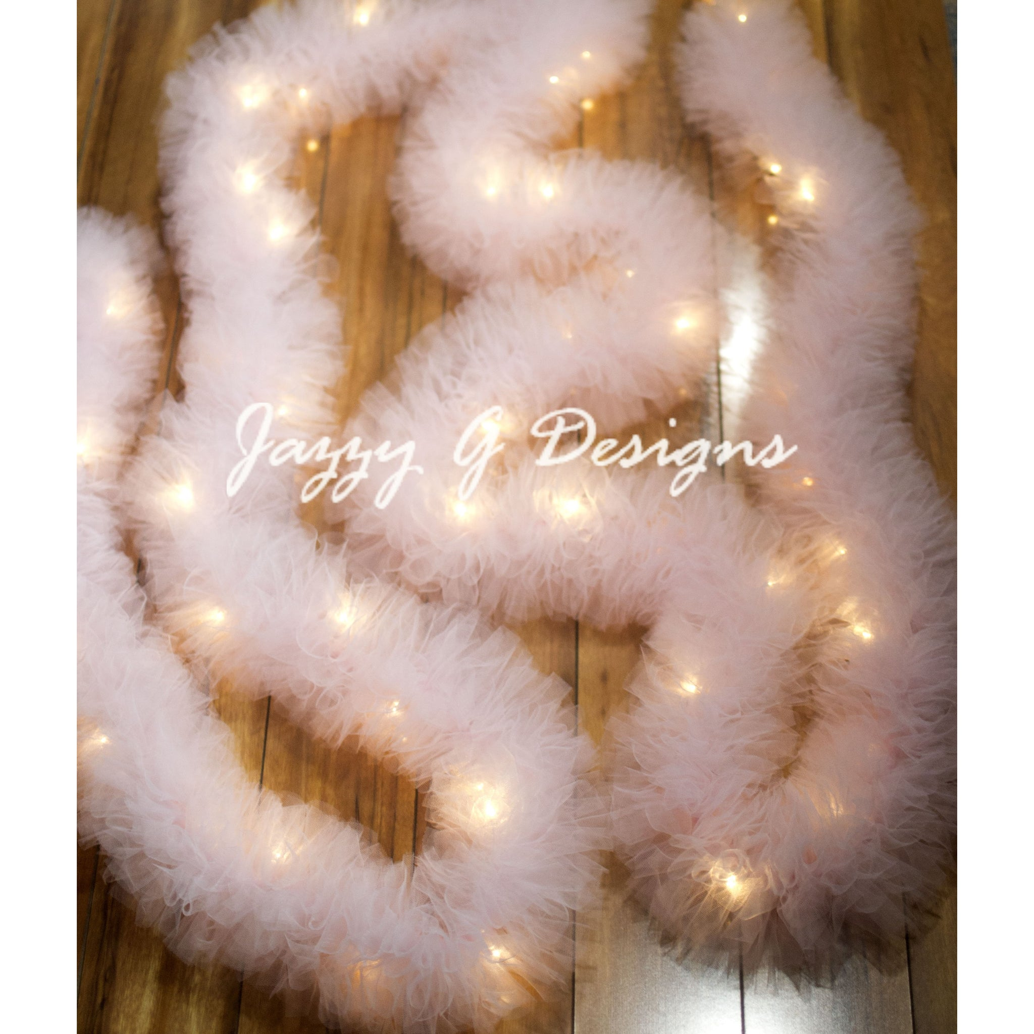 Very Light Pink Tulle Garland
