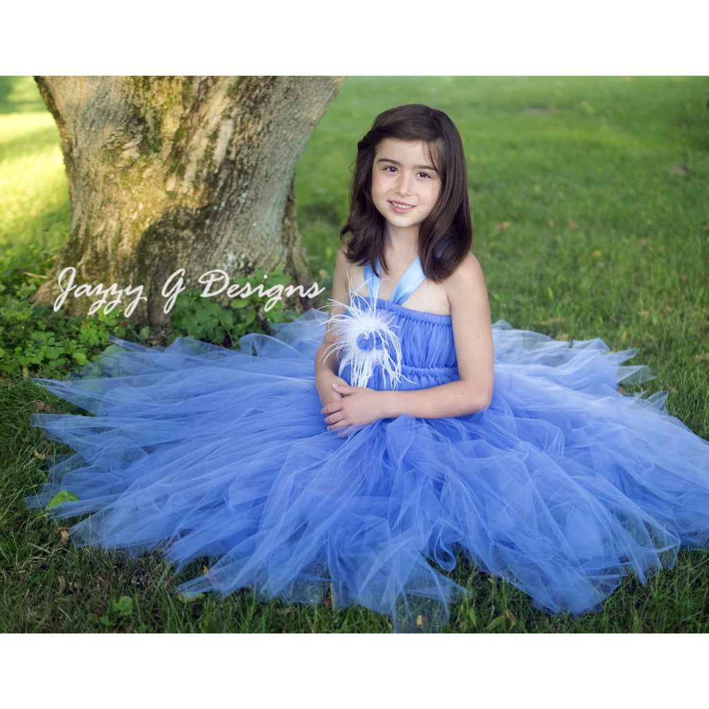 86d25063a9f Periwinkle Blue Flower Girl Tutu Dress – JazzyGDesigns