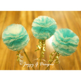 Teal & Gold Princess Party Wands