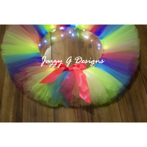Tropical Rainbow LED Light Up Tutu