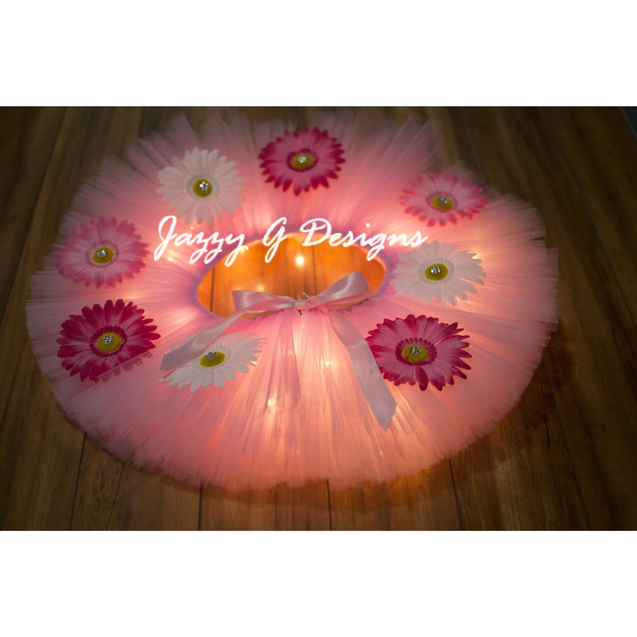 Pink Peace & Love Daisy LED Light Up Tutu