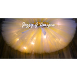 Light Yellow & White LED Light Up Tutu