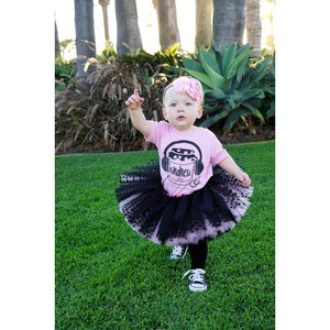 Black Polka Dot Pink Tutu