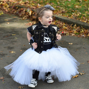 White High-Low Tutu