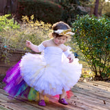 High-Low Unicorn Rainbow Tutu