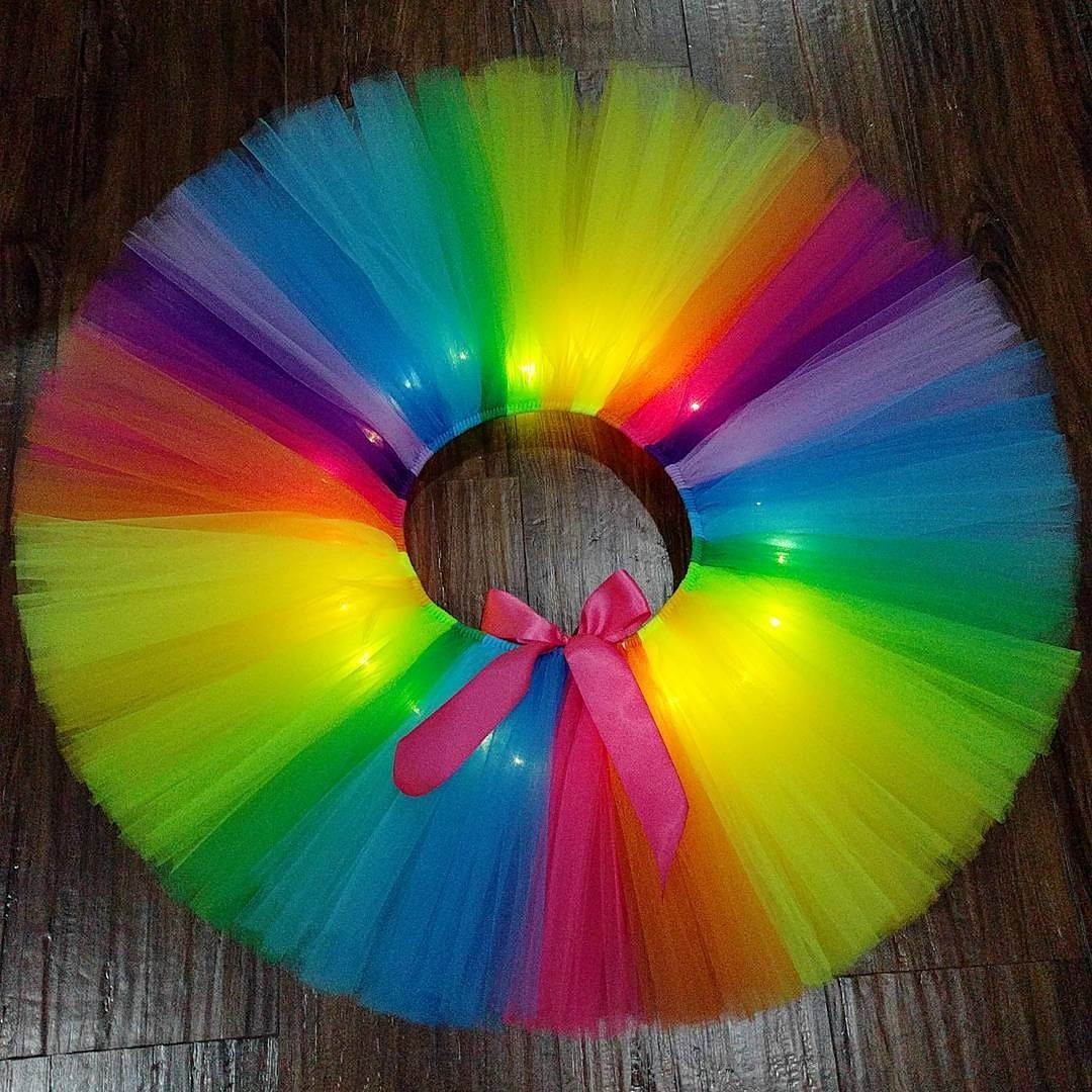 Psychedelic Rainbow LED Light Up Tutu