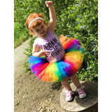 Rainbow Birthday Tutu
