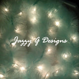 Mint Lighted Tulle Garland