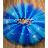 Royal Blue & Aqua LED Light Up Tutu