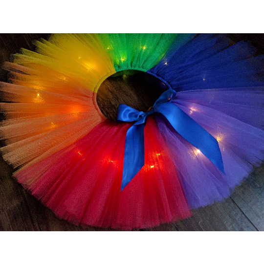 Rainbow LED Light Up Tutu
