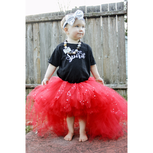 Red Sparkle High-Low Tutu