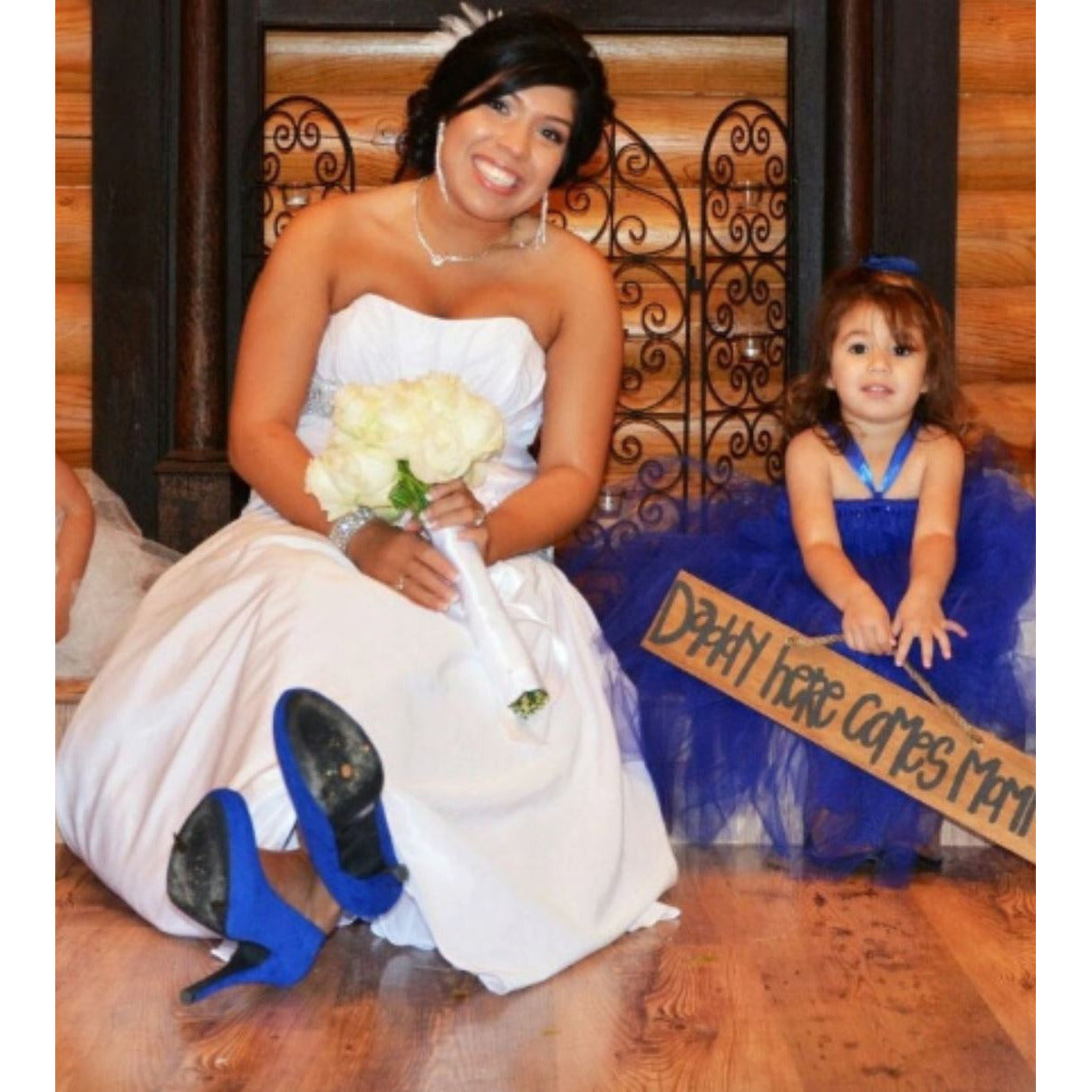 Royal Blue Flower Girl Tutu Dress
