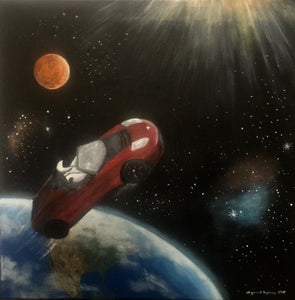 """Tesla in space II"" - print"