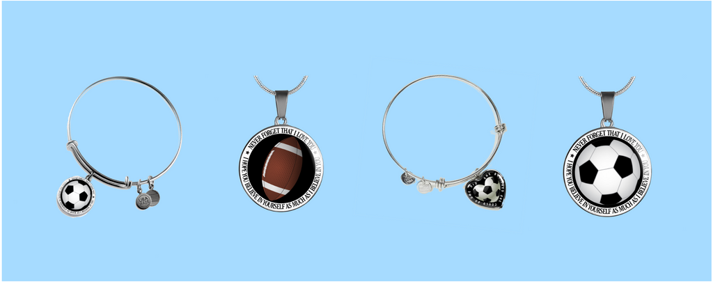 football/soccer jewelry pieces