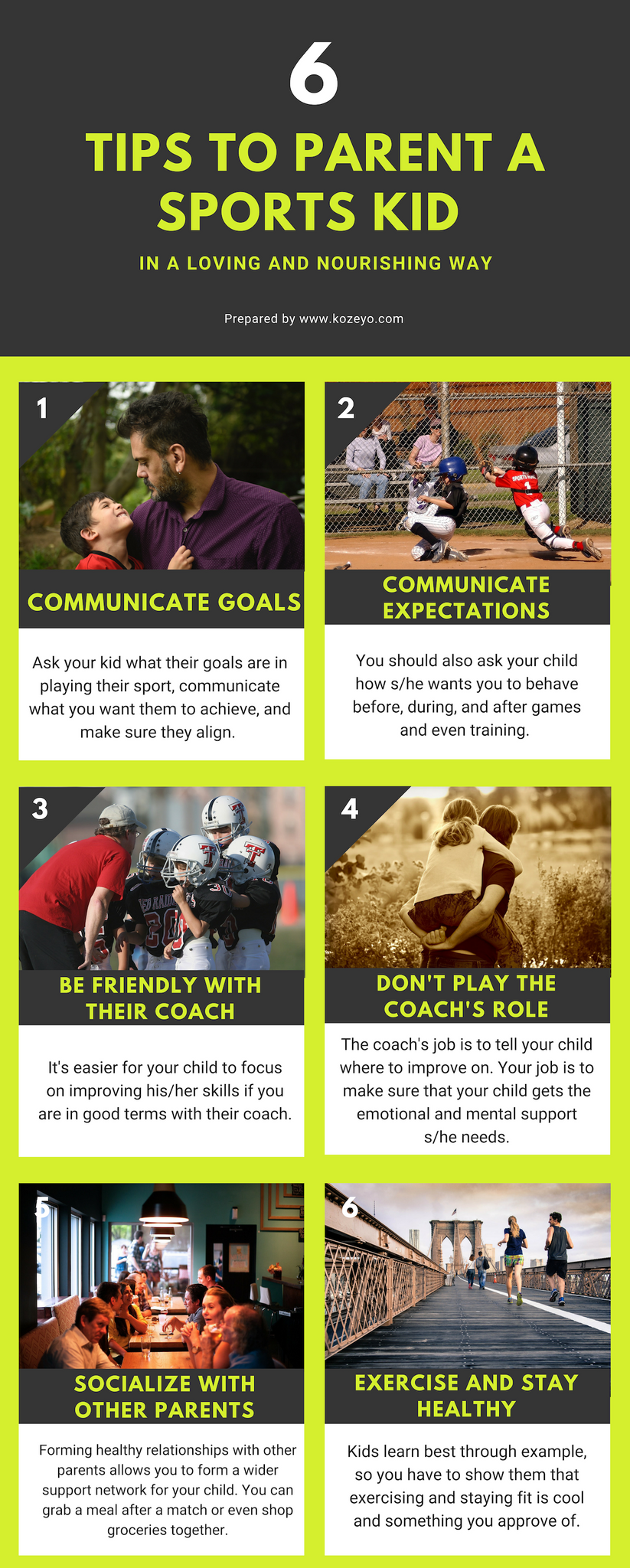 tips for parenting sports kids
