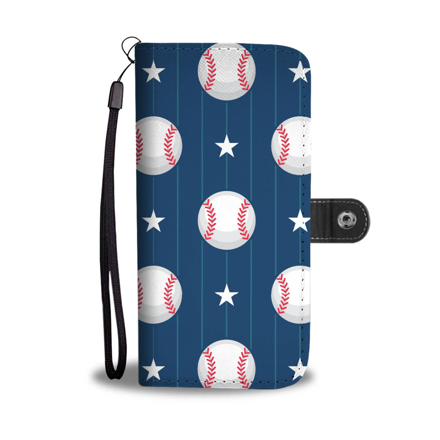 BASEBALL BLUE WALLET CASE