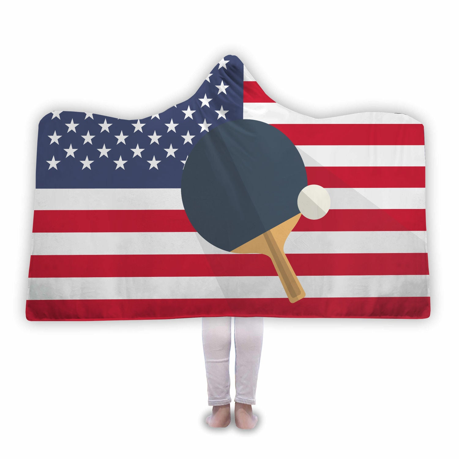 USA Table Tennis Hooded Blanket