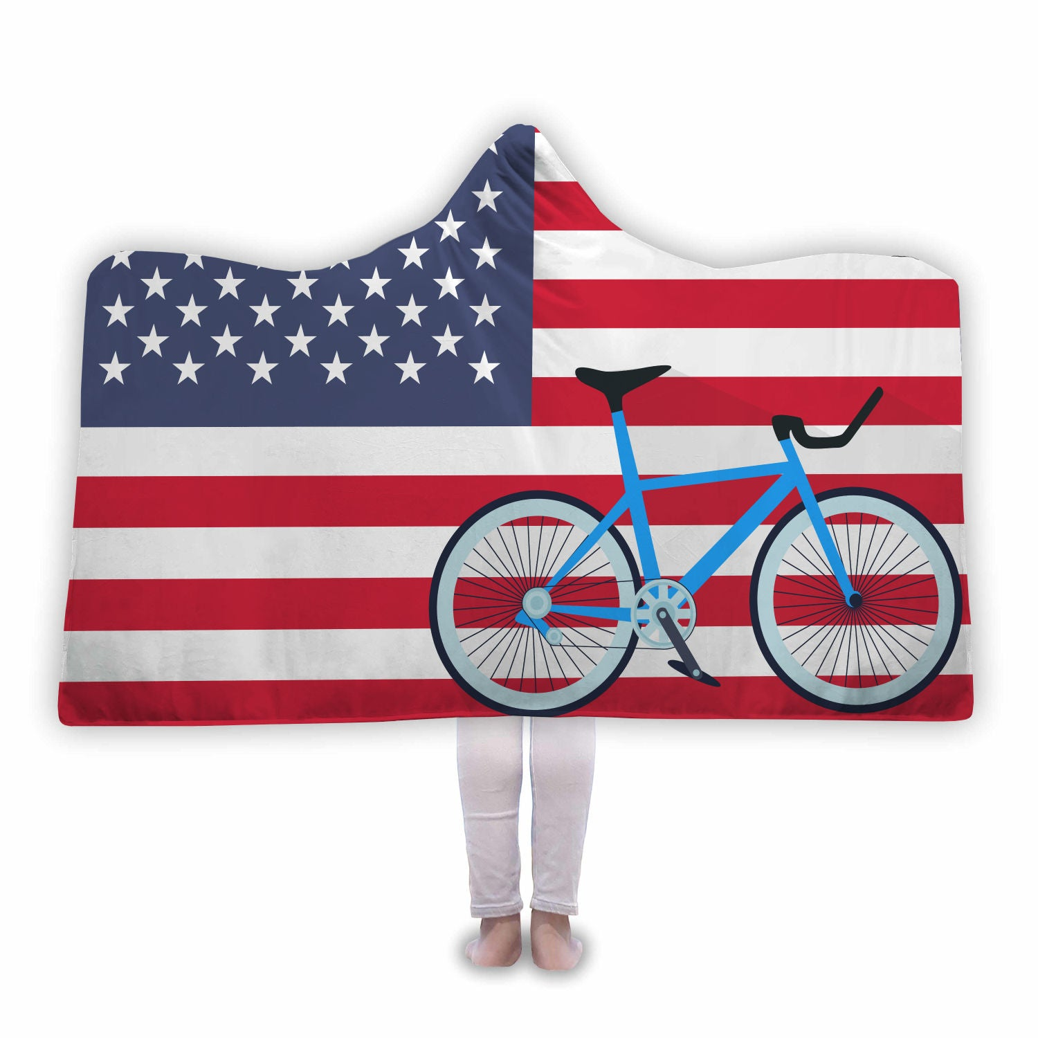 USA Cycling Hooded Blanket