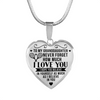 Tennis - To Granddaughter Believe in Yourself - Heart Necklace