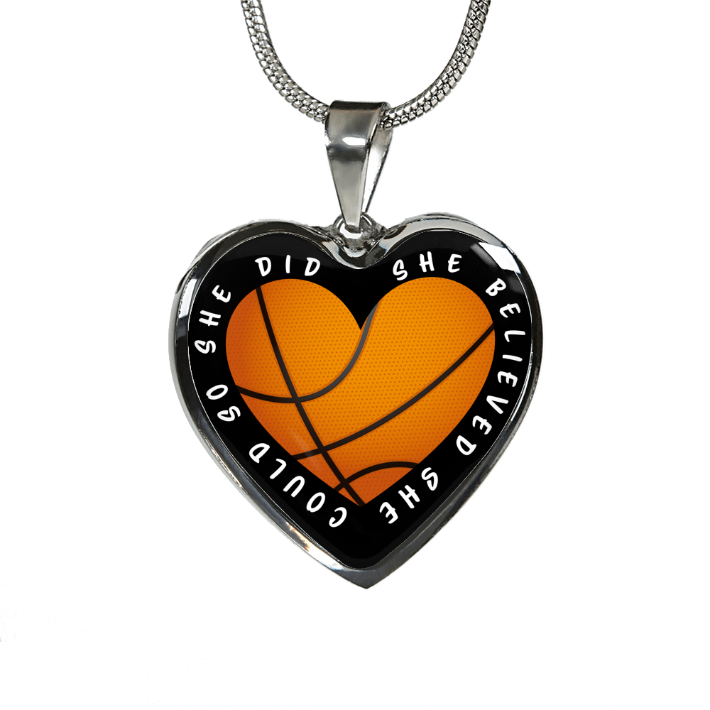Basketball - She Believed She Could Heart