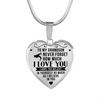Wrestling - To Grandson Believe in Yourself - Heart Necklace