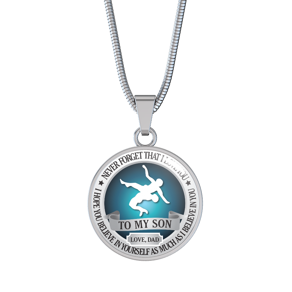 Wrestling Necklace Believe In Yourself To Son Love Dad Kozeyo