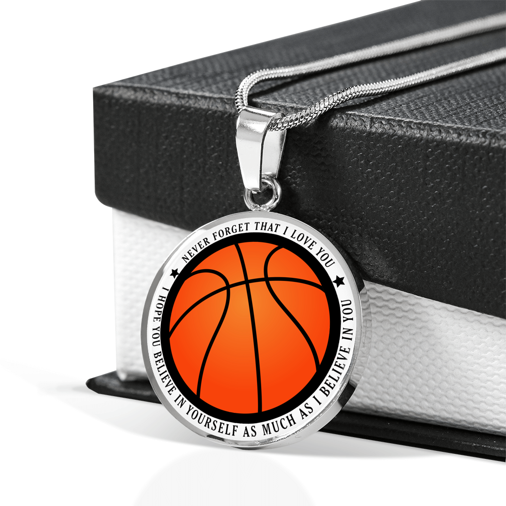 Basketball Necklace - Believe in Yourself