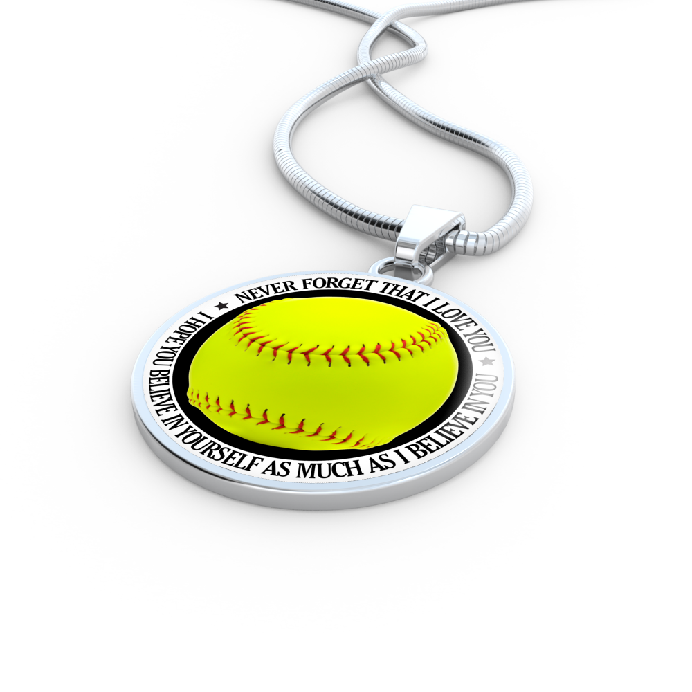 porcelain bajeforwo softball necklace jewelry pink women girls baseball for