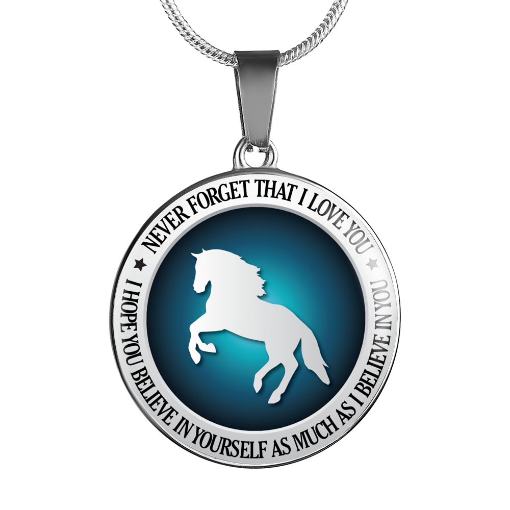 Horse Riding - Believe in Yourself Necklace