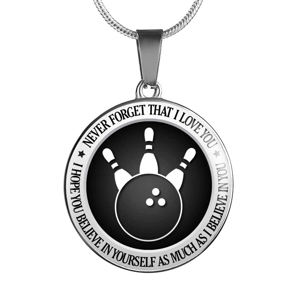 Bowling Necklace - Believe in Yourself
